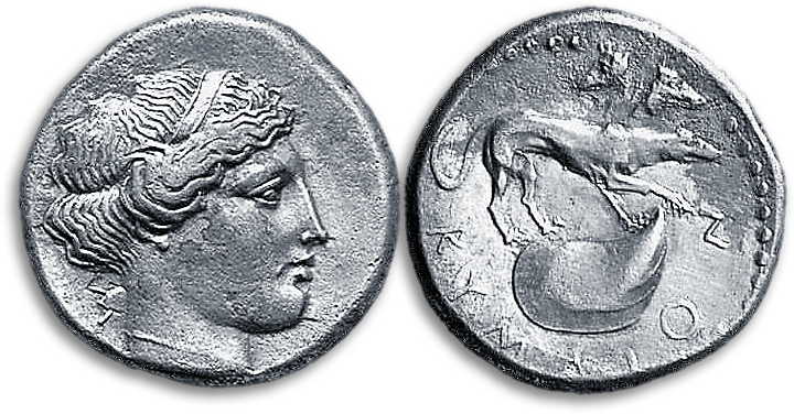 Silver stater from Kyme