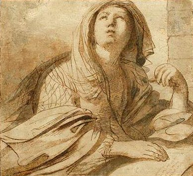 The Cimmerian Sibyl by Guercino