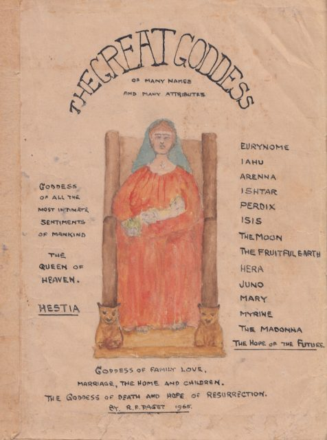Dr Paget's unpublished book, The Great Goddess