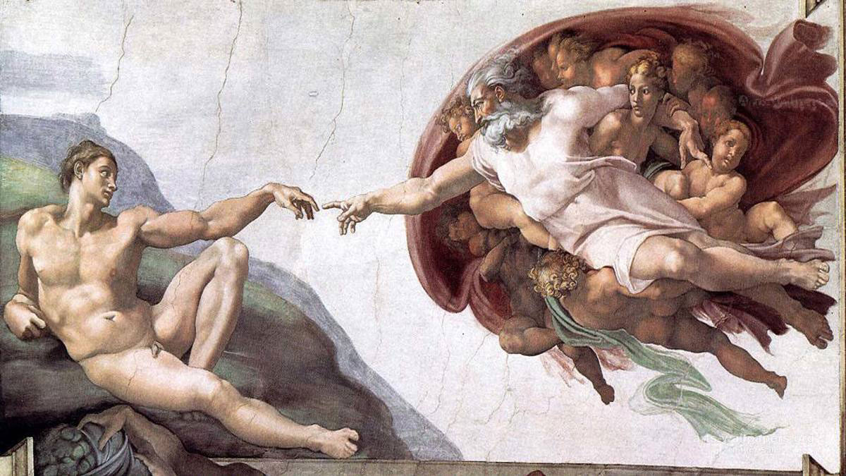 God creating Adam – Michelangelo